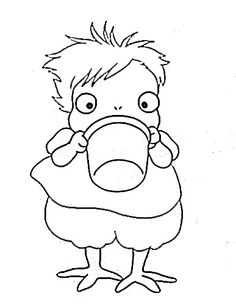 Ponyo coloring pages party pinterest coloring for Ponyo coloring pages to print
