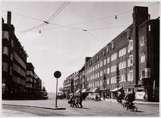 Heemstedestraat (1)  De Heemstedestraat gezien vanaf het Hoofddorpplein naar de Westlandgracht. Foto: 11.06.1959, collectie: Gemeente Archief Amsterdam; eigen foto's, fotograaf: J.M. Arsath Ro'is