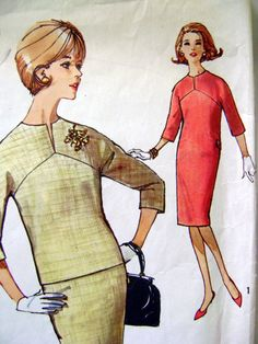 1960s Vintage Sewing Pattern Simplicity 5277 Dress Size 14 Bust 34-GOT IT! sw