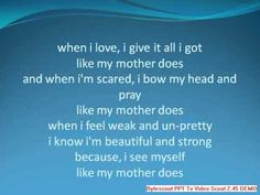 Lauren Alaina - Like My Mother Does Lyrics