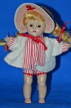 Vintage Vogue Ginny Doll 7.5' tagged clothing