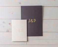 Luxury Gold Deco Letterpress Wedding Stationery by Wolf & Ink by Wolf & Ink Letterpress Wedding Stationery, Luxury Wedding Invitations, Wedding Invitation Sets, Invite, Art Deco Pattern, Wax Stamp, Monogram Wedding, Ink, Prints