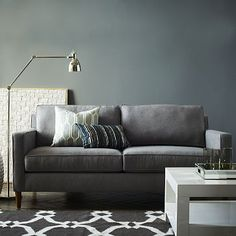 West Elm offers modern furniture and home decor featuring inspiring designs and colors. Create a stylish space with home accessories from West Elm. Living Room Sofa, Home Living Room, Living Room Furniture, Living Spaces, Space Furniture, House Furniture, Furniture Decor, Couches For Small Spaces, Small Couch