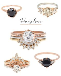 Anna Sheffield hazeline engagement rings: unique engagement rings for the modern bride inspired by vintage designs