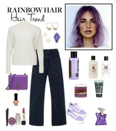 """""""Rainbow Hair - Lavender"""" by sereneowl ❤ liked on Polyvore featuring beauty, Anna Sui, Blazé Milano, Bottega Veneta, Vans, Christian Dior, Bumble and bumble, Nixon, Forever 21 and Bond No. 9"""