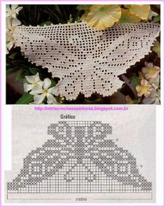 ru / Фото - κρινος - ergoxeiro Chair Back Crochet Doily Diagram, Crochet Lace Edging, Crochet Doily Patterns, Crochet Borders, Crochet Chart, Thread Crochet, Cute Crochet, Crochet Doilies, Crochet Stitches
