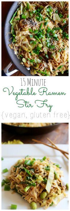 15 Minute Vegetable Ramen Stir Fry {vegan, gluten free} // pumpkin & peanut butter