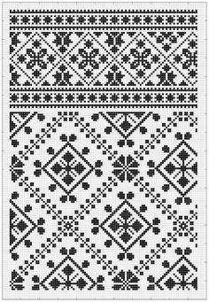Dzianina żakardowa z Ksenią Maximovą. Folk Embroidery, Hand Embroidery Designs, Cross Stitch Embroidery, Embroidery Patterns, Cross Stitch Patterns, Knitting Charts, Knitting Stitches, Knitting Patterns, Knitted Mittens Pattern