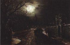 Walter Linsley Meegan (British, 1859–1944) Title: Moonlit street