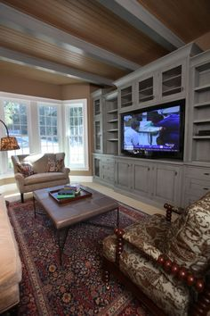 Built-in Entertainment Center Ideas. Find ideas and inspiration for Built-in Entertainment Center Ideas to add to your own home. Tv Built In, Built In Bookcase, Built Ins, Bookcases, Built In Entertainment Center, Entertainment Room, Muebles Living, Built In Cabinets, Kitchen Cabinets