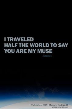 I belong to you #Muse #Lyrics #LyricsBites