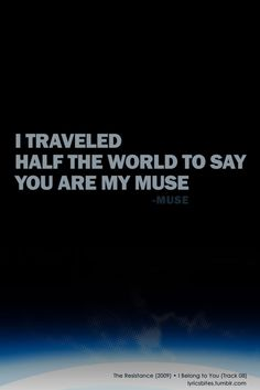 I belong to you #Muse #Lyrics #LyricsBites