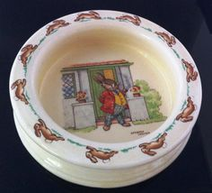 ROYAL DOULTON Bunnykins Childs Bowl 1939c Barbara Vernon artwork, RARE picture by Thriftnstyle