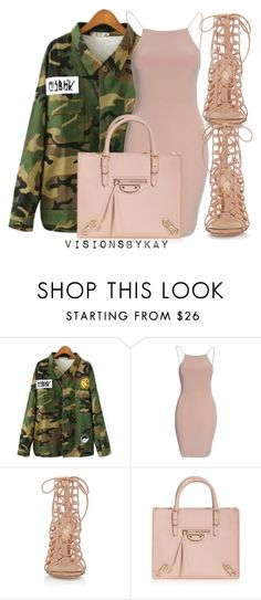 """Untitled #565"" by kaythefrugalista on Polyvore featuring Chicnova Fashion, Gianvito Rossi, Balenciaga, women's clothing, women's fashion, women, female, woman, misses and juniors"