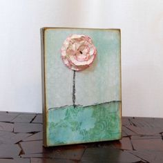 Mini Poppies altered canvas art. $28  http://www.etsy.com/listing/57231097/mini-poppies-altered-canvas-art
