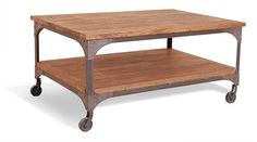 manhattan industrial coffee table by daisy west | notonthehighstreet.com
