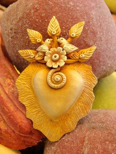 "LORENA ANGULO Tree of Life Sacred Heart ♥ Mexican artist Lorena Angulo sculpted this sacred heart out of ""Bronzclay"" with her bare hands, a simple carving ..."