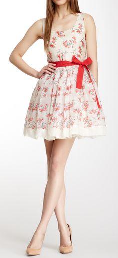 Silk floral dress