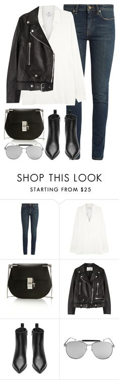 """Untitled #2865"" by elenaday ❤ liked on Polyvore featuring Yves Saint Laurent, Chloé and Acne Studios"