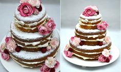Naked Cake com flores e berries do Le Jardin Secret