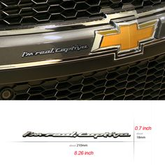 Chevrolet Slogan D-font Emblem for Captiva