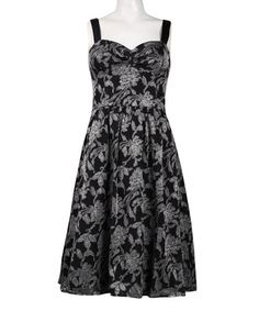 Look at this #zulilyfind! Black Floral Fit & Flare Dress #zulilyfinds