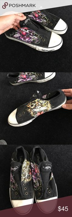 Ed Hardy slip on sneakers Ed Hardy black slip on sneakers Ed Hardy Shoes Sneakers