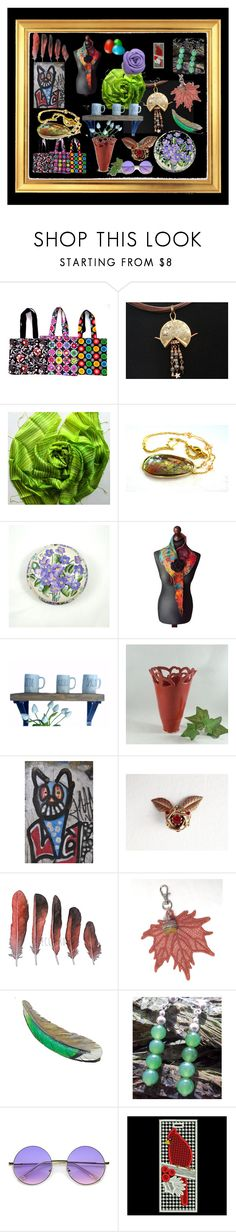 """""""Pretty Gift Collage"""" by anna-recycle ❤ liked on Polyvore featuring ZeroUV, modern, rustic and vintage"""