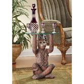 online shopping for Design Toscano Exotic Decor Moroccan Monkey Business Glass Topped Side Table, 21 Inch, Full Color from top store. See new offer for Design Toscano Exotic Decor Moroccan Monkey Business Glass Topped Side Table, 21 Inch, Full Color Glass Top Side Table, Glass Table, Monkey Business, Living Room End Tables, Living Room Furniture, Table Furniture, Ball Chair, Sewing Table, Moroccan Decor