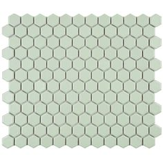 SomerTile 10.25x11.75-in Victorian Hex Light Green Porcelain Mosaic Tile (Pack of 10) | Overstock.com