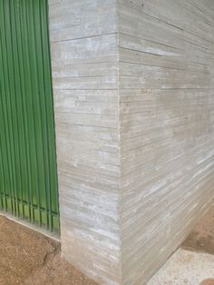 Board formed concrete