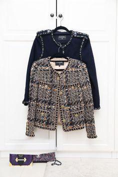 <i>Vogue</i> Arabia's September It Girl Sara Al Tamimi is a Closet Fashionista Chanel Tweed Jacket, Chanel Style Jacket, Chanel Fashion, Hijab Fashion, Fashion Outfits, Womens Fashion, Iranian Women Fashion, Vogue, Chanel Couture