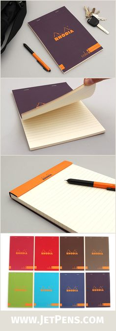 A review of the colored Rhodia dot grid soft cover notebook - color lined paper