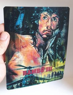 Rambo 3 3D lenticular cover Flip effect for Steelbook