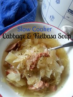The Better Baker: Slow Cooker Cabbage & Kielbasa Soup (Low Carb)
