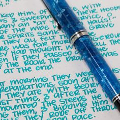 Ink review of Diamine Marine. Ace Of Swords, Lettering Guide, Fountain Pen Ink, Gel Pens, Scribble, Ink Color, Handwriting, Stationery, Pen Pals