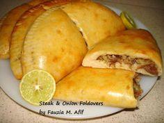 Steak and Onion Foldovers Recipe (Fauzia's Kitchen Fun)