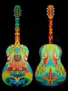 Perrine by Elizabeth Elequin Ukulele Art, Guitar Art, Music Guitar, Cool Guitar, Painted Ukulele, Painted Guitars, Play That Funky Music, Guitar Painting, Music Artwork