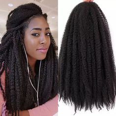 This kinky twist hair is unfolded,it will be after folding .usually pack can full one head Crochet Braids Marley Hair, Marley Braids, Crochet Braids Hairstyles, Twist Hairstyles, Crochet Hair Styles, Crochet Hair Extensions, Braid In Hair Extensions, 100 Human Hair, Kinky