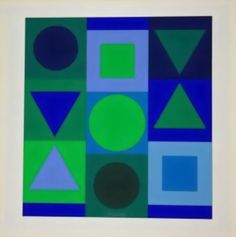 Victor Vasarely >> Blue and Green
