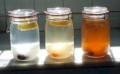 Tibetský vodný kefír,Čínska huba kombucha, tibetský mliečny kefír : Vodný kefír, mliečny kefír, huba kombucha, čaj matcha, čaj ženšen pätlistý Kombucha, Kefir Recipes, Matcha, Food To Make, Mason Jars, Homemade, Crystals, Low Carb, Top