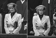 October 23 1987 The Princess of Wales, Colonel in Chief Royal Hampshire Regiment visited the city of Winchester to watch the laying up of the old colours of the first battalion and then watched a march past the city centre. She wore the regimental brooch presented to her in Berlin in 1985