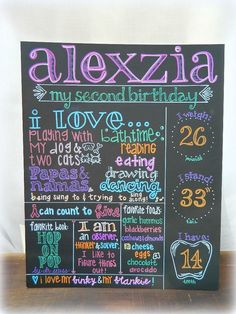 birthday chalkboard sign - Google Search