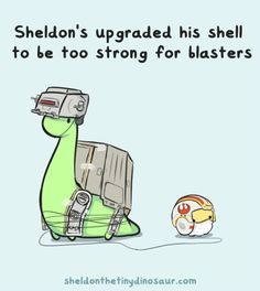 Happy New Star Wars Movie Day! Hope everyone can enjoy it like Sheldon and Puff here