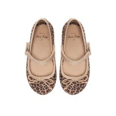 Leopard print ballerina shoes - Shoes - Baby girl - Kids | ZARA Spain
