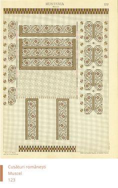 Мусчел украшения Embroidery Patterns, Cross Stitch Patterns, Cross Stitching, New Tattoos, Origami, Knowledge, Traditional, Romania, Crochet