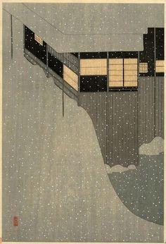 雪なのに、、、温かさを感じる。 Komura Settai - Just lovely!