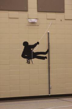climber silhouette/