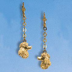 Ohrhänger Pudelkopf an Kette - Paar