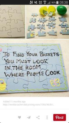 Clues - love this idea